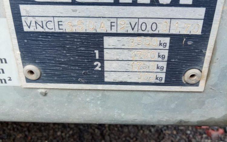 REMORQUE PORTE ENGIN CU 2T8  AA-452-JW
