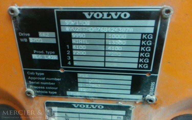 VOLVO FL6 180 CAISSE ORA TYK790