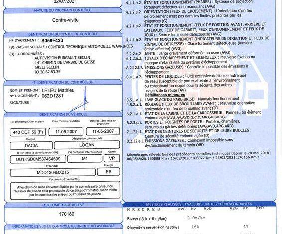 DACIA LOGAN MCV 1,6 16V LAUREATE 7PL BLEU 443CQP59