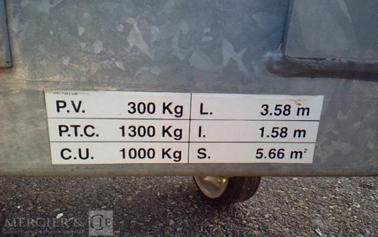 REMORQUE PORTE 3 MOTOS  CB-101-VQ