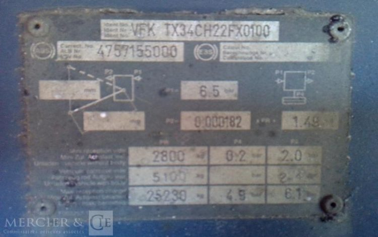 GENERAL TRAILER SEMI REMORQUE BLEU CF-505-VQ