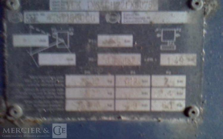 GENERAL TRAILER SEMI REMORQUE BLEU CL-459-ES