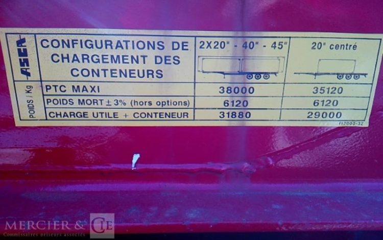GENERIQUE ASCA PORTE CONTAINER 3 ESS 38T ROUGE DR-370-HA