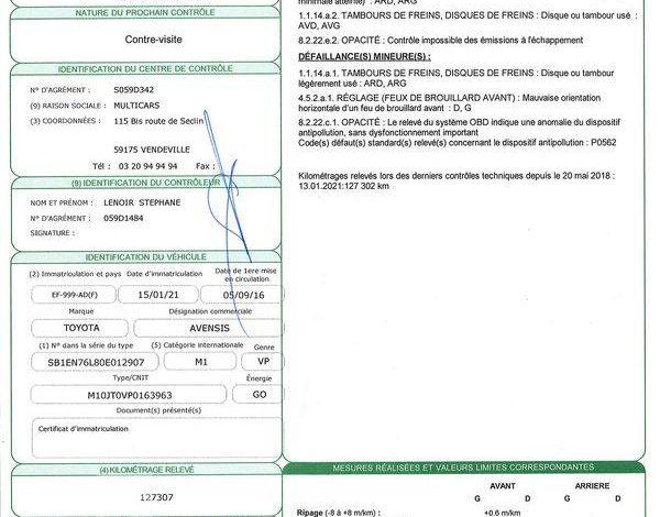TOYOTA AVENSIS 4 BK D112 DYN BUS BLANC EF-999-AD