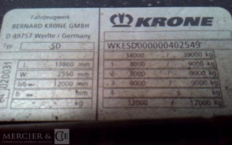 GENERIQUE KRONE BACHEE 3 ESS 34T GRIS FA-799-EM