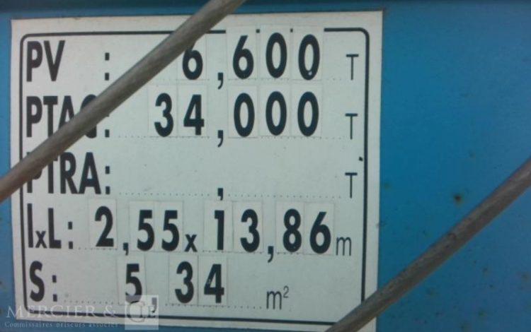 KRONE SREM BACHE 3 ESS 34T BLEU AV-559-RG