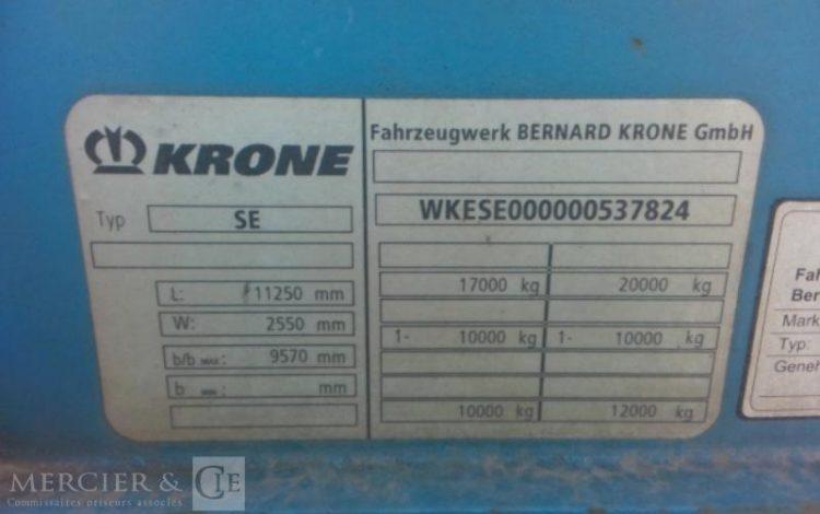 KRONE SREM BACHE 1 ESS 17T HAYON BLEU CG-155-KW