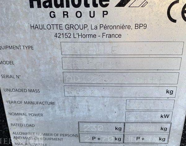 HAULOTTE NACELLE ARTICULEE DIESEL 12M  ELE731717