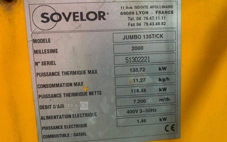 SOVELOR JUMBO 135T/CK JAUNE CID005000