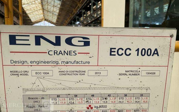 ENG CRANES GRUE A TOUR  ECC 100 A – AN 2013 – SUR DESIGNATION  4526