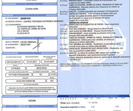 CITROEN BERLINGO BLANC BH-612-BW