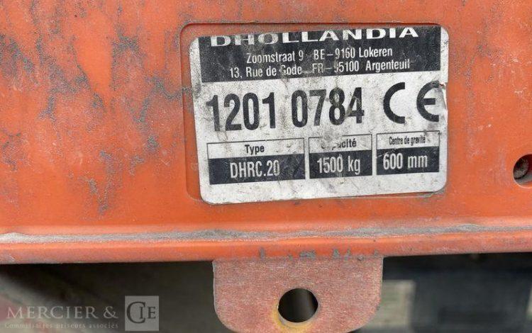 IVECO EUROCARGO 180E25 EEV PLATEAU GRUE 18T BLANC CE-833-EB
