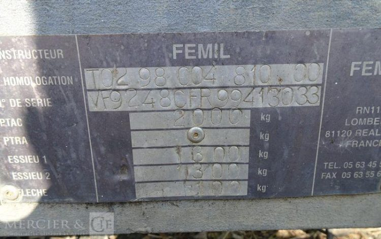 FEMIL ROULOTTE BASE VIE DE CHANTIER 2 ESS 2T-DESIGNATION ESSONNE (91)  CM-476-JL