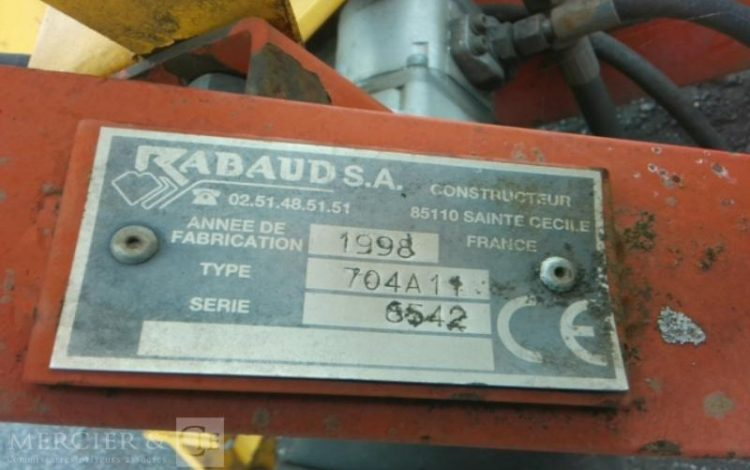 RABAUD APPOINTEUSE HYDRAULIQUE BIFACE 250 JAUNE ENF748000