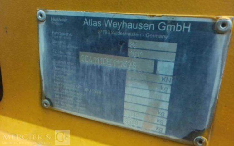ATLAS CHARGEUSE COMPACT ARTICULE DIESEL 800 LITRES ATLAS DE 2012  KUB743060