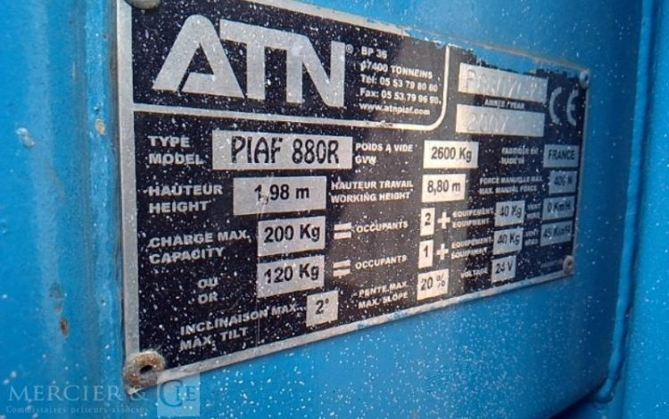 ATN NACELLE 880 R TYPE MD 09 – AN 2007 558 HEURES BLEU 7941