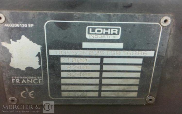 LOHR SREM 2ESS 21T PORTE 6 VOITURES NOIR CW-364-MX